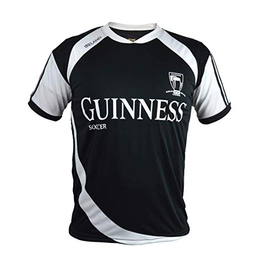 competitive price f4f7b 73bae GUINNESS - BLACK & WHITE SOCCER JERSEY