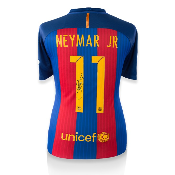 a5425e0af BUY AUTHENTIC SIGNED NEYMAR 2016-17 BARCELONA JERSEY IN WHOLESALE ONLINE