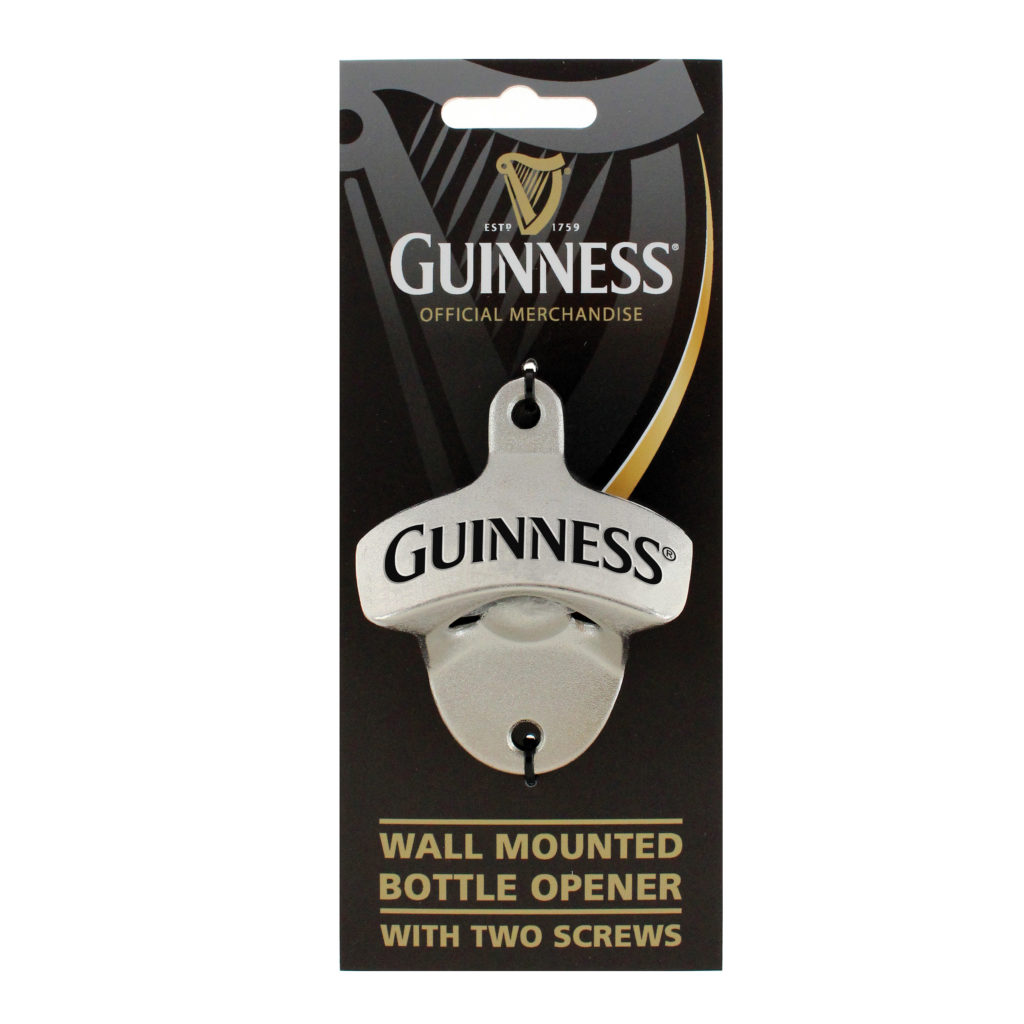 buy guinness wall mounted bottle opener in wholesale online. Black Bedroom Furniture Sets. Home Design Ideas