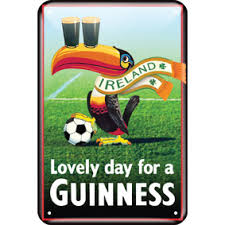 BUY GUINNESS TOUCAN FOOTBALL LOVELY DAY FOR A GUINNESS METAL SIGN IN WHOLESALE ONLINE
