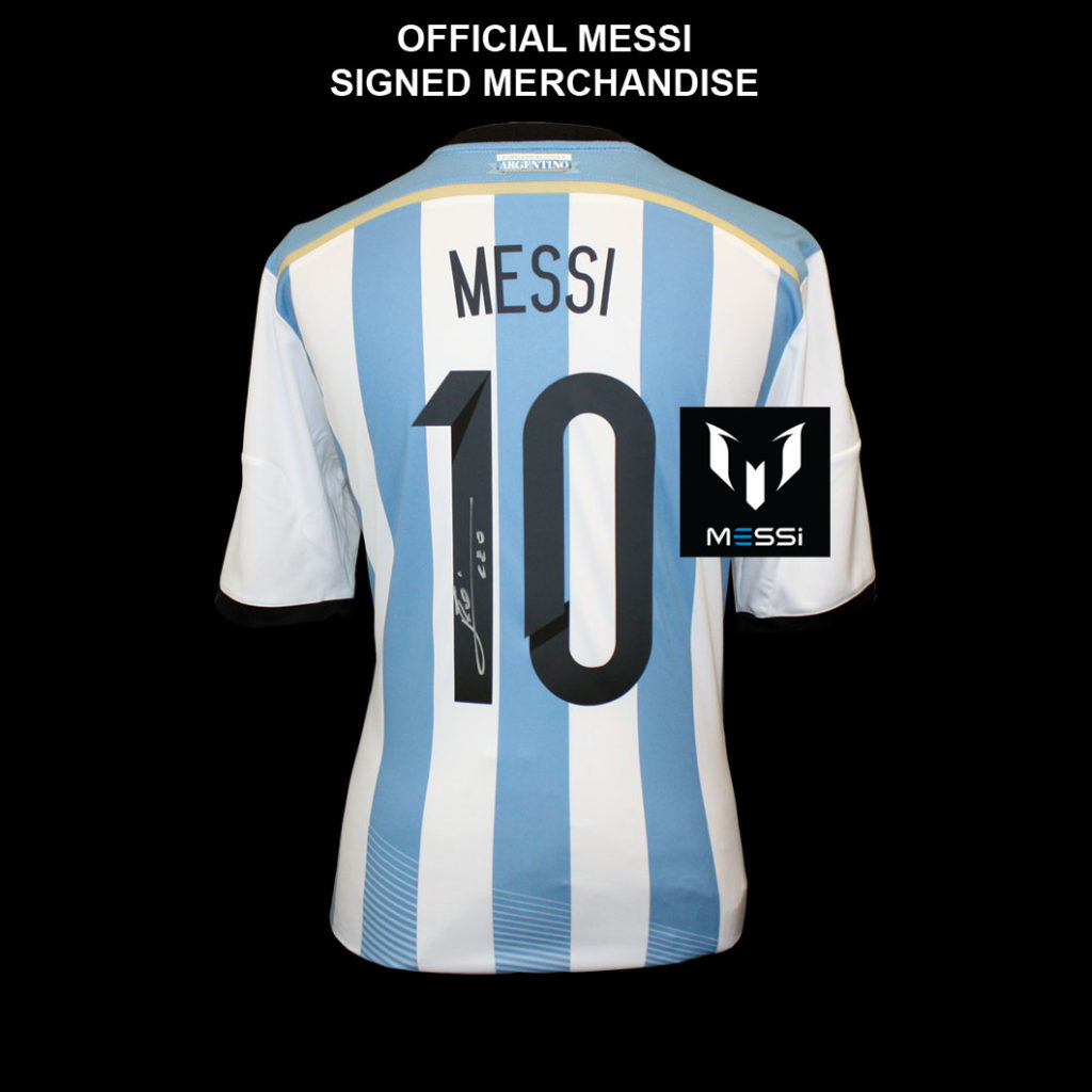 best service b6987 93637 LIONEL MESSI - AUTHENTIC SIGNED ARGENTINA JERSEY