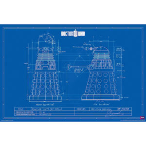 BUY DOCTOR WHO DALEK BLUEPRINT POSTER IN WHOLESALE ONLINE