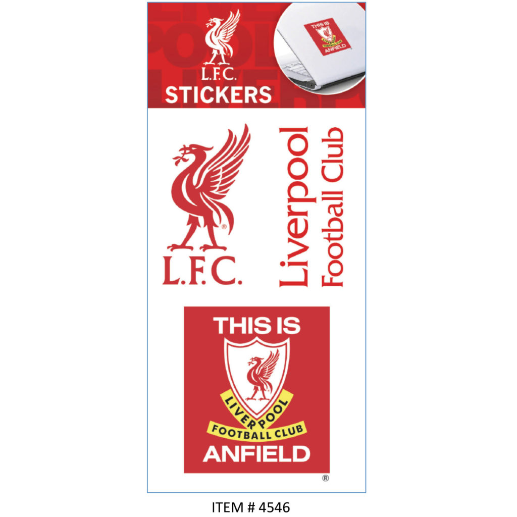 Buy liverpool sticker sheets in wholesale online