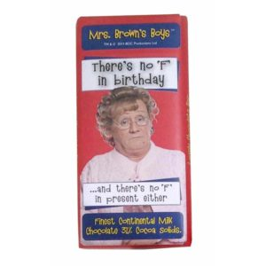 BUY MRS. BROWN'S BOYS NO F IN BIRTHDAY MILK CHOCOLATE BAR IN WHOLESALE ONLINE
