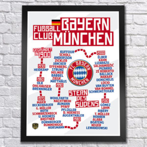 BUY BAYERN MUNICH TIMELINE POSTER IN WHOLESALE ONLINE