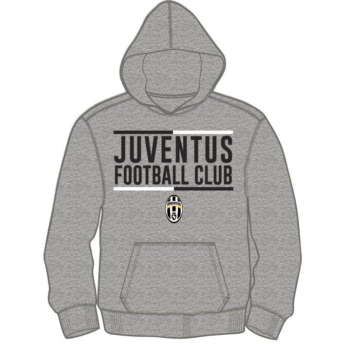 differently 92f4a 5f2bf JUVENTUS - GREY HOODIE (YOUTH)