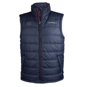 BUY GUINNESS NAVY PADDED BODY WARMER IN WHOLESALE ONLINE