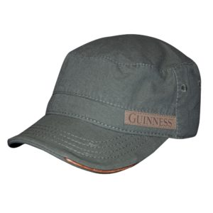 BUY GUINNESS MILITARY GREEN LEATHERETTE DETAIL CADET CAP IN WHOLESALE ONLINE
