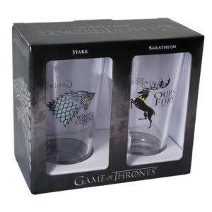 BUY GAME OF THRONES STARK BARATHEON PINT GLASS SET IN WHOLESALE ONLINE