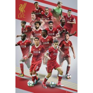 BUY LIVERPOOL 2017-18 PLAYERS COLLAGE POSTER IN WHOLESALE ONLINE