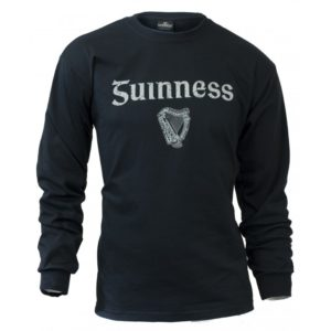 BUY GUINNESS BLACK SIGNATURE EMBLEM LONG SLEEVE SHIRT IN WHOLESALE ONLINE