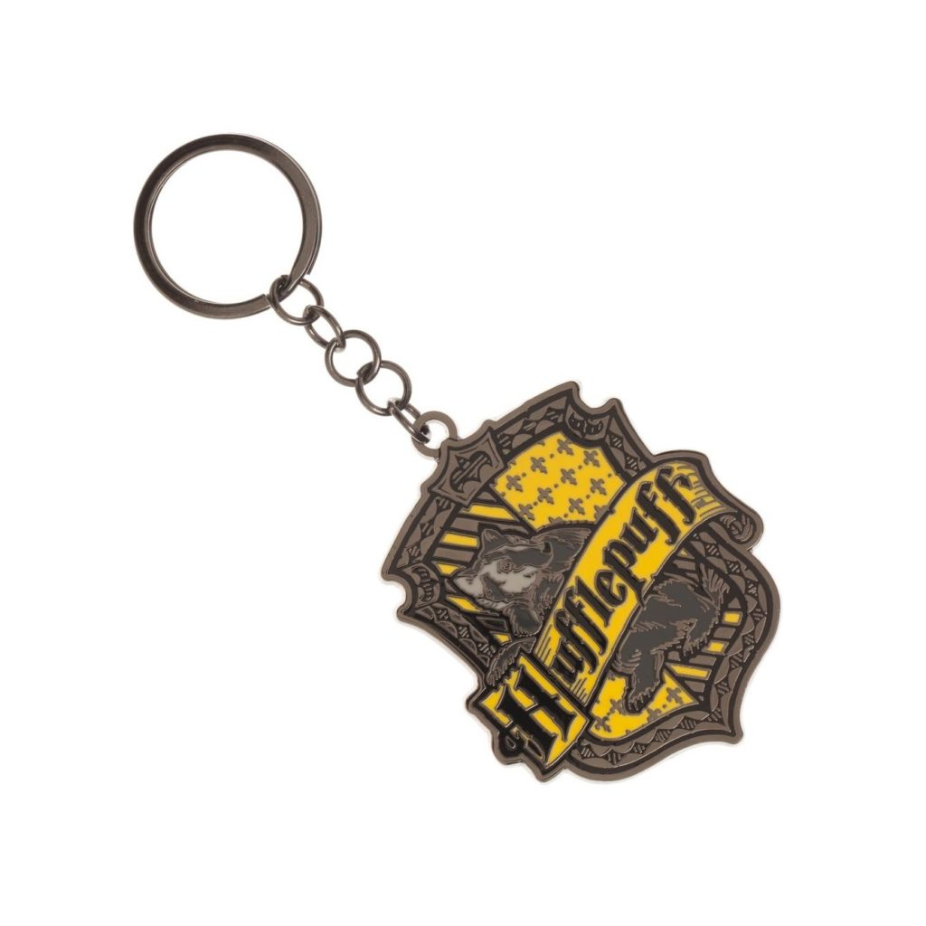 HARRY POTTER - HUFFLEPUFF KEYCHAINS (CASE PACK OF 3)