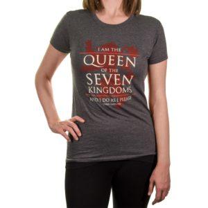 BUY GAME OF THRONES QUEEN OF THE SEVEN KINGDOMS LADIES T-SHIRT IN WHOLESALE ONLINE