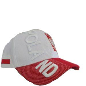 BUY POLSKA WHITE 3D HAT IN WHOLESALE