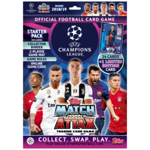 BUY 2018-19 TOPPS MATCH ATTAX CHAMPIONS LEAGUE CARDS STARTER PACK IN WHOLESALE ONLINE