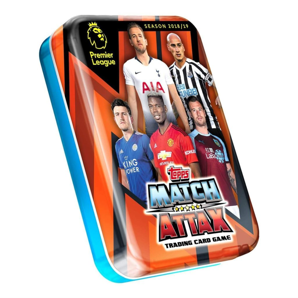 new product d4c2b ee52e 2018-19 TOPPS MATCH ATTAX EPL CARDS - MINI TIN (45 CARDS + LE GOLD)