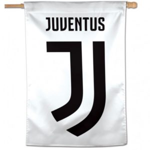 BUY JUVENTUS WHITE VERTICAL FLAG IN WHOLESALE ONLINE!