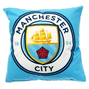 BUY MANCHESTER CITY CREST CUSHION IN WHOLESALE ONLINE!