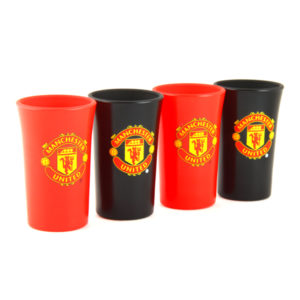 BUY MANCHESTER UNITED COLOURED SHOT GLASS SET IN WHOLESALE ONLINE