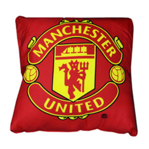 BUY MANCHESTER UNITED CREST CUSHION IN WHOLESALE ONLINE!