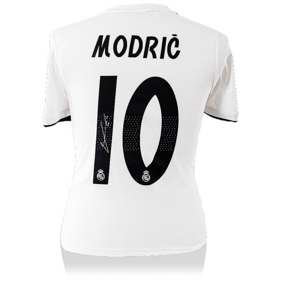 separation shoes 466a7 78c4b LUKA MODRIC - AUTHENTIC SIGNED 2018-19 REAL MADRID JERSEY