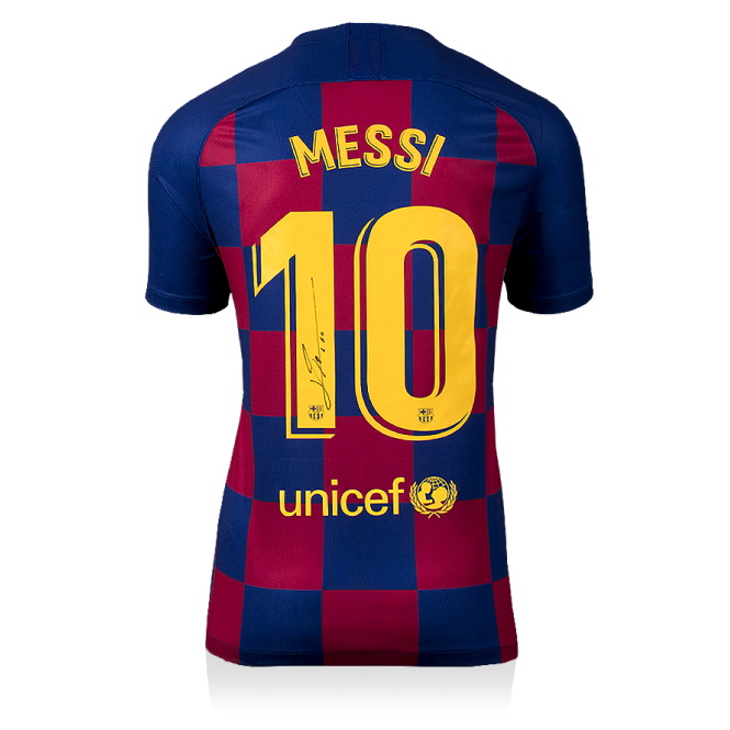 Buy Authentic Signed Lionel Messi 2019 20 Barcelona Jersey Online