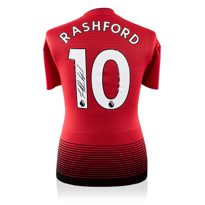 Authentic Signed Marcus Rashford 2018 19 Manchester United Jersey