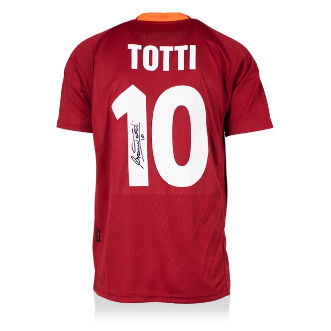 FRANCESCO TOTTI - AUTHENTIC SIGNED 2000-01 AS ROMA JERSEY