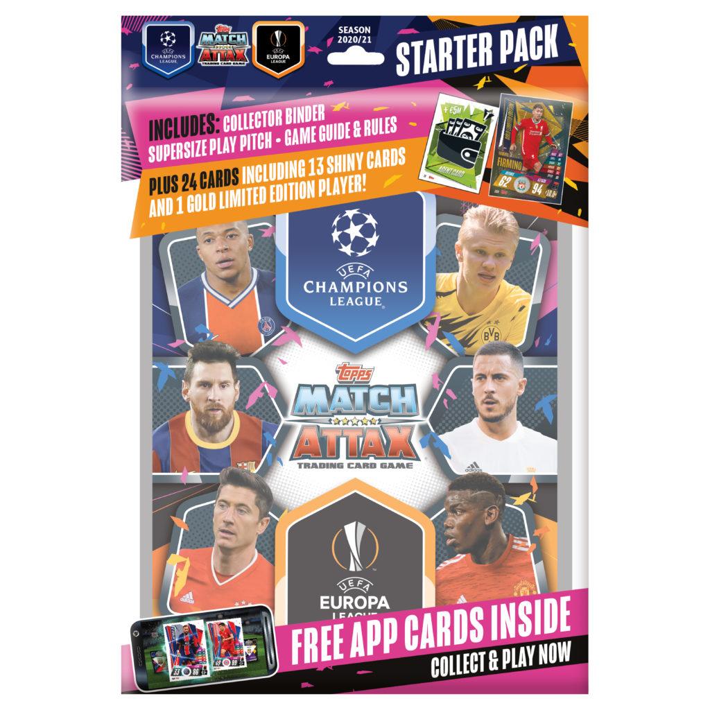 Album, 207 Cards + LE Gold Firminho Card Box /& Starter Pack Set Match Attax 2020-21 Topps Champions League Cards
